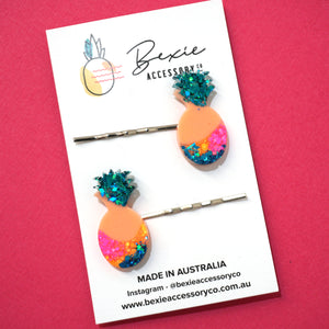 Pineapple Hair Pin 'Design 1'- Bexie Accessory Co