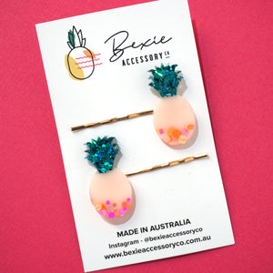 Pineapple Hair Pin 'Design 2'- Bexie Accessory Co