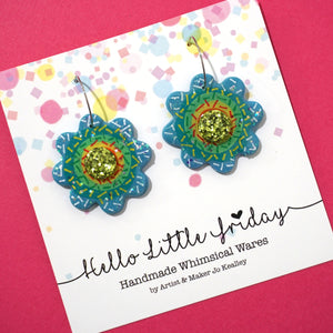 Rainbow Flower Hoops 'Design 1'- Hello Little Friday