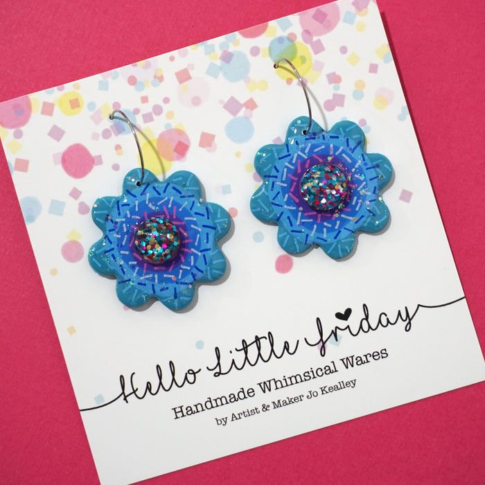 Rainbow Flower Hoops 'Design 3'- Hello Little Friday