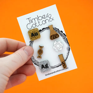 Mismatch Chemistry Stud Pack- Timber & Cotton
