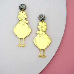 Cheeky Charlie Christmas Dangle in Gold Mirror - Timber & Cotton X She's that Wallflower