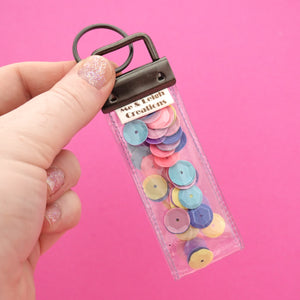Confetti 'Design 8' Glitter Keyring- Me & Leigh Creations