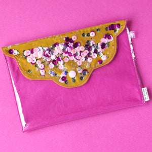 Midi 'Design 8' Confetti Scallop Clutch Bag- Me & Leigh Creations