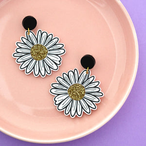 Daisy 'Stud top' Dangle Earrings (CHOOSE SIZE) - Timber & Cotton