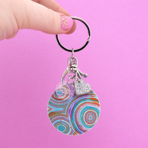 Ocean Dreaming Keyring - Timber & Cotton + Natalie Jade