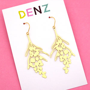 Wattle Hook Dangle Earring in Gold- DENZ
