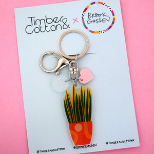 Snake Plant Keyring - Timber & Cotton + Brook Gossen