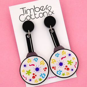 Magnify Glass Science Dangle Earrings- Timber & Cotton