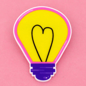 Light Bulb Science Brooch- Timber & Cotton