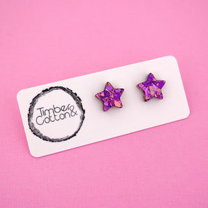 Star 'Unicorn Flake' Stud Earrings - Timber & Cotton