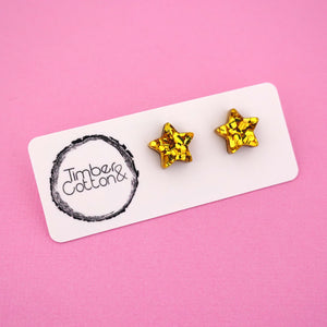Star 'Gold Flake' Stud Earrings - Timber & Cotton
