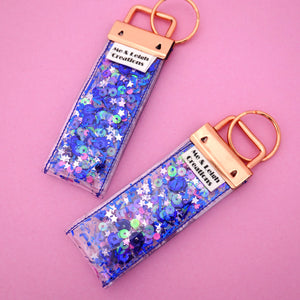 'Colour 3' Glitter Keyring- Me & Leigh Creations