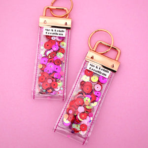 'Colour 4' Glitter Keyring- Me & Leigh Creations
