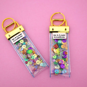 'Colour 9' Glitter Keyring- Me & Leigh Creations