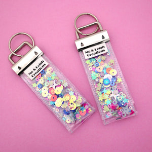 'Colour 10' Glitter Keyring- Me & Leigh Creations