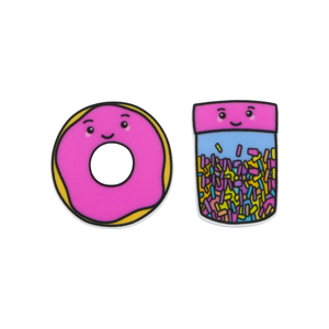 'Donut & Sprinkles' Food Statement Stud Earring