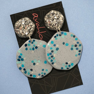 Resin & Polymer Clay Dangles 'Design 39'- Avahlou