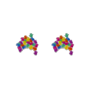 Harmony Day 'Australia of Hands' Statement Stud Earring