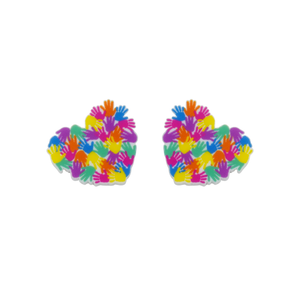 Harmony Day 'Heart of Hands' Statement Stud Earring