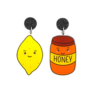 'Lemon & Honey' Food Dangle Earring