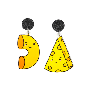 'Mac & Cheese' Food Dangle Earring