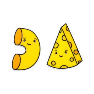 'Mac & Cheese' Food Statement Stud Earring