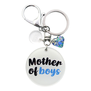 Mother of Boys Keyring