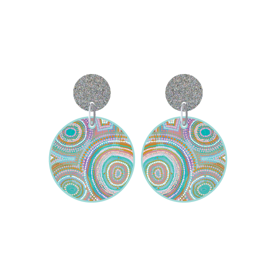 Ocean Dreaming Petite Circle Dangle Earring - Timber & Cotton + Natalie Jade