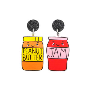 'Peanut Butter & Jam' Food Dangle Earring