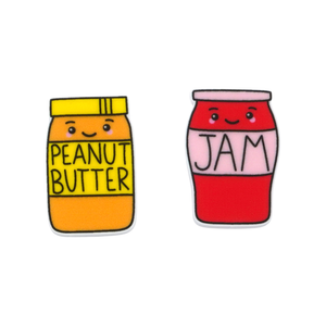 'Peanut Butter & Jam' Food Statement Stud Earring