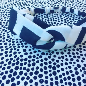 Painterly Black & White Headband- Karla Cola