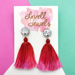 Hand Dyed Tassel Dangles Design 14- Lovell Jewels