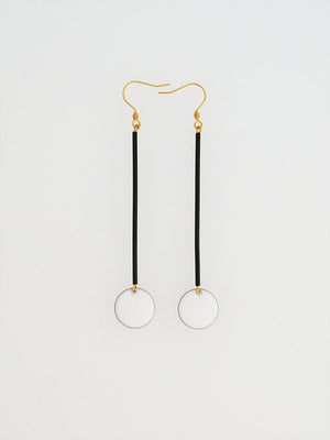 White Poko Earrings- Middle Child