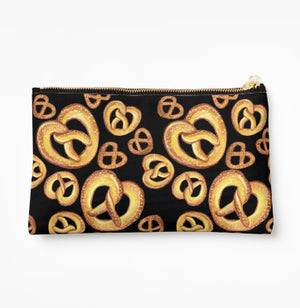 Pretzels Black Clutch- Make Merriness