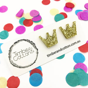 Crown- Gold Glitter
