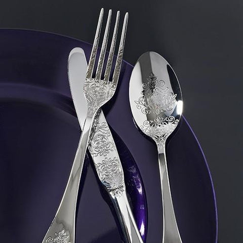 Viners Baroque 16 Piece Stainless steel Cutlery Set, Homeware4u.com