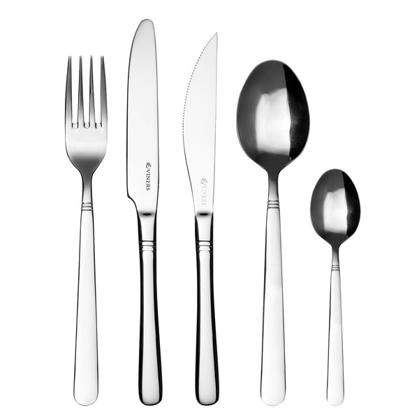 Viners Piccadilly 18/0 20 piece Cutlery set with Free Steak Knives, Homeware4u.com