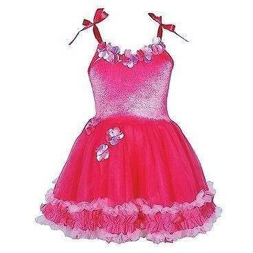 Pink Poppy Rara Ruffles Tutu Fancy Dress Girls Size Hot Pink, Homeware4u.com