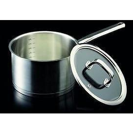 Kitchin 20cm Stainless steel Saucepan with Glass Lid by Tom Kitchin Chef, Homeware4u.com