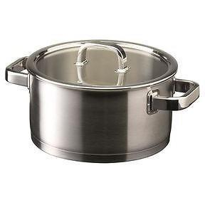 Tom Kitchin 24cm Stainless steel Stockpot with Glass Lid, Homeware4u.com