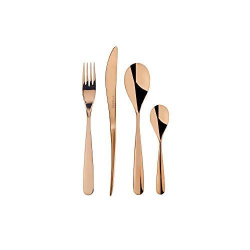 Viners Exclusive Contour Chocolate 16 Piece Stainless Steel Cutlery Set, Homeware4u.com