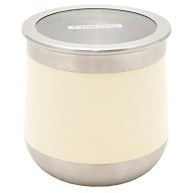 Typhoon Novo Cream Small Storage Canister, Homeware4u.com