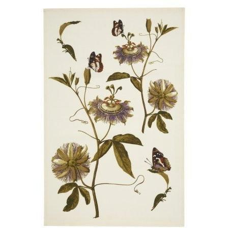 RHS Passion Flower Linen Tea Towel, Homeware4u.com