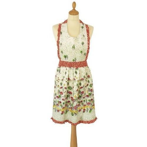 Peggy Styled Cotton Apron - Village in the Forest Design by Ulster Weavers, Homeware4u.com