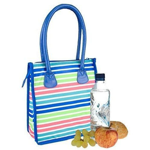 Polar Gear Canvas Striped Lunch Tote Bag, Homeware4u.com