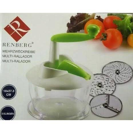 Renberg Grater, Slicer,Shredding Multi Grator with Handle and 3x Exchangeable Bl, Homeware4u.com