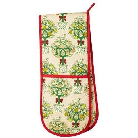 Partridge In A Pear Tree Double Oven Glove, Homeware4u.com