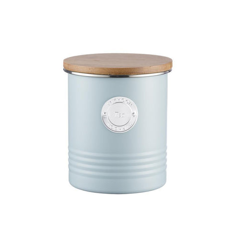 Typhoon Living Tea Canister Blue 1 Litre, Homeware4u.com