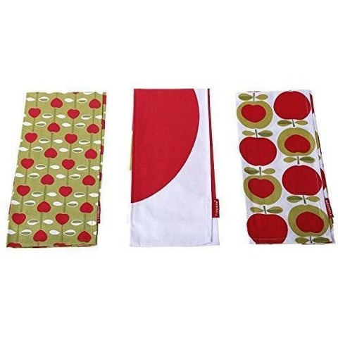 Typhoon Apple Heart Set of 3 Tea Towels, Homeware4u.com